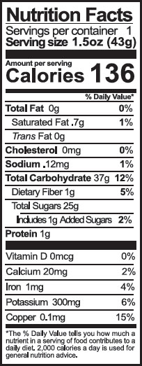chocolate nuggets nutrition facts